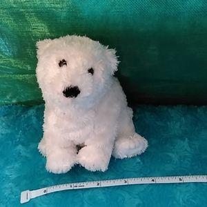 Small Ty polar bear - Siberia, white with beads